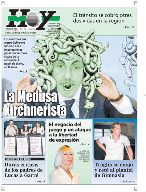Tapa diario Hoy de La Plata  con imágenes  | Periódico ...