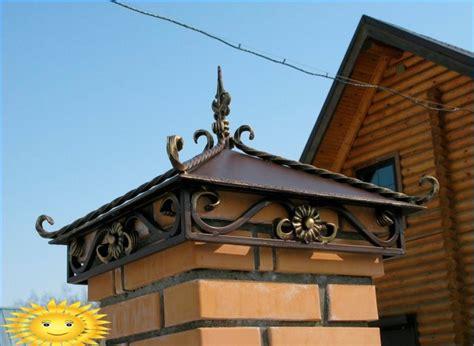 Tapas para postes de valla de ladrillo y hormigón: tipos y ...