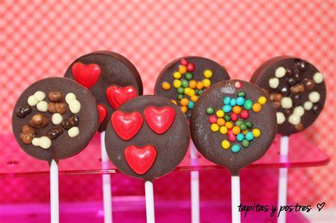 Tapitas y Postres: Piruletas de chocolate.