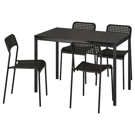 TÄRENDÖ / ADDE Mesa con 4 sillas, negro   IKEA