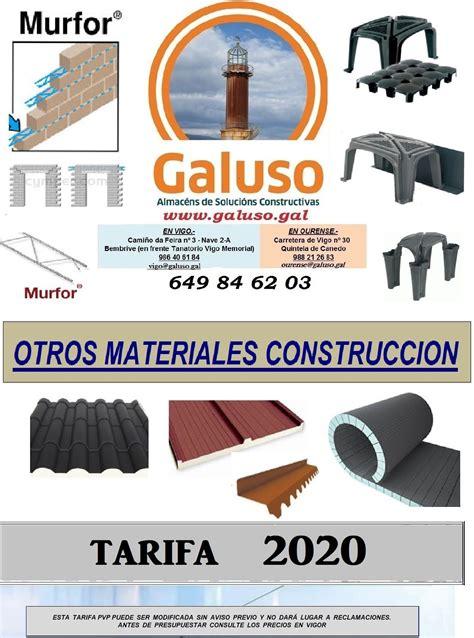TARIFA 2020   OTROS MATERIALES CONSTRUCCION: Catálogo de ...