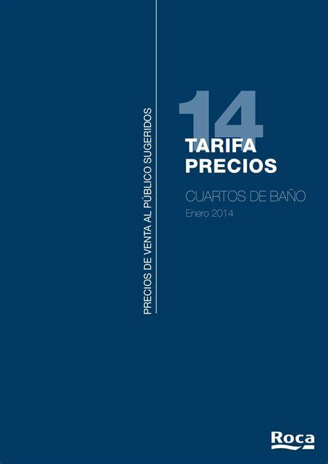 Tarifa Sanitarios Roca 2014 by Climalia Castilla la Mancha ...