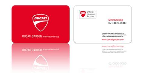 Tarjeta club Membership de Ducati Gardenign Collection