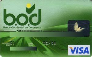 Tarjeta de Banco: Banco Occidental De Descuento  Banco ...