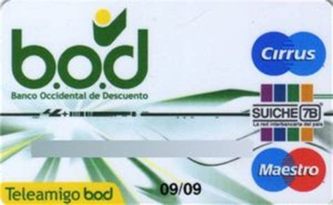 Tarjeta de Banco: Banco Occidental De Descuento Teleamigo ...