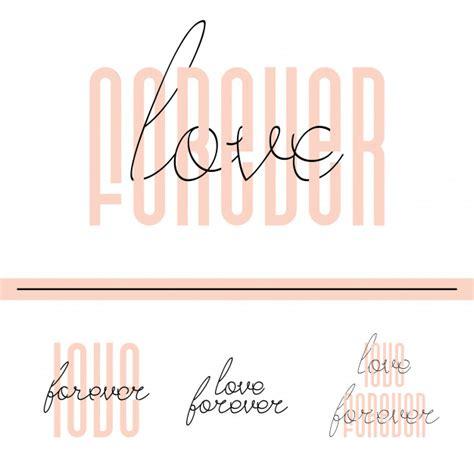 Tarjeta de cita de letras de amor para siempre | Vector ...