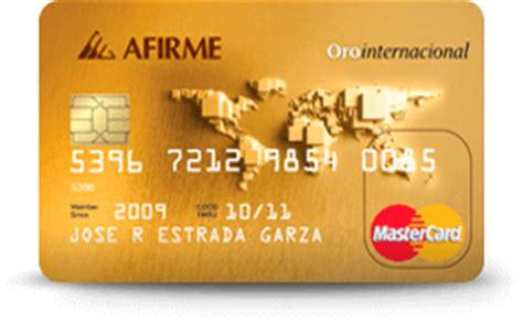 Tarjeta de Crédito Afirme Oro   Compara antes de Solicitar