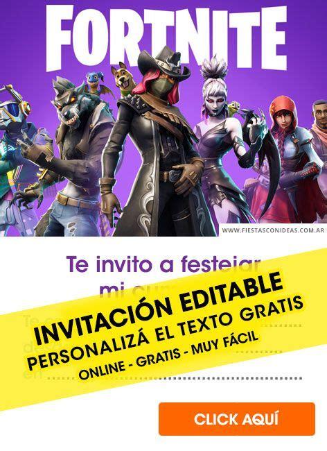 Tarjeta de cumpleaños de Fortnite en 2019   Invitaciones ...