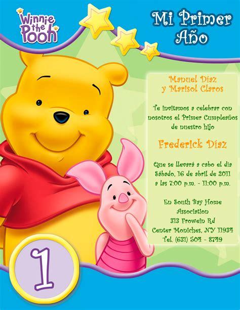 Tarjeta de Invitación Infantil de Cumpleaños Winnie the ...