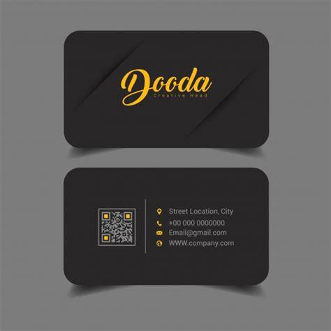 Tarjeta de presentación con diseño negro | Descargar ...