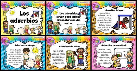Tarjetas para trabajar los adverbios   Imagenes Educativas