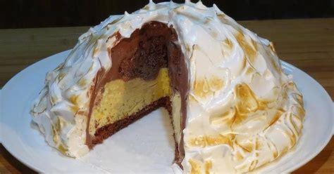 Tarta Alaska súper fácil  Tarta de helado con merengue ...