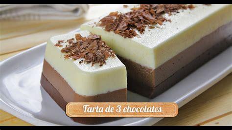 Tarta de 3 chocolates   YouTube