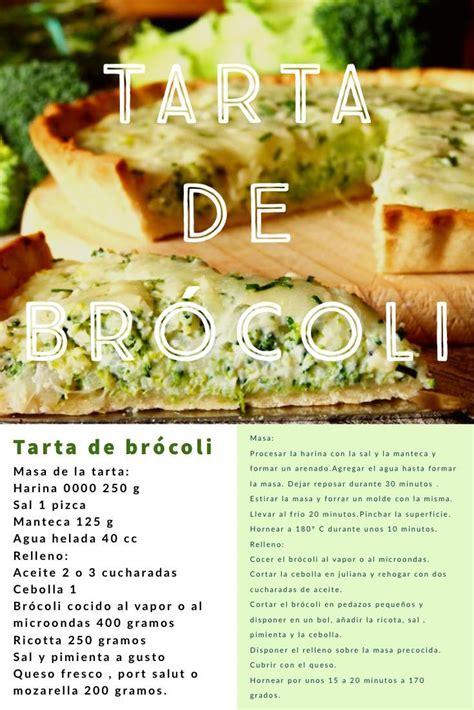 Tarta de Brócoli | Recetas de cocina, Comida de argentina ...