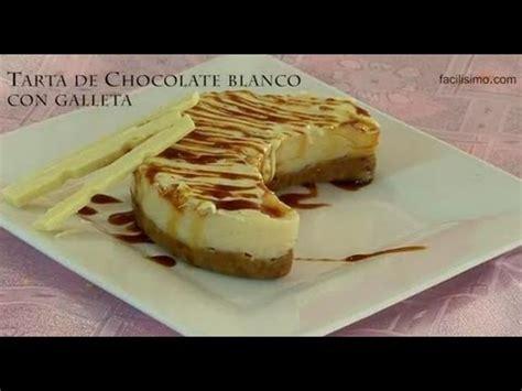 * Tarta de chocolate blanco con galleta | facilisimo.com ...