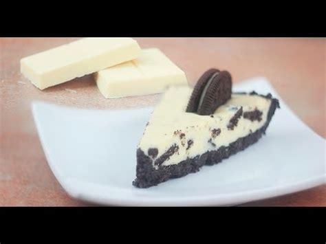 Tarta de chocolate blanco y Oreo   YouTube