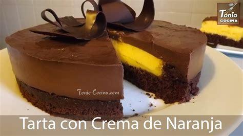 Tarta de chocolate con crema de naranja   YouTube