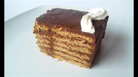 Tarta de chocolate con galletas   YouTube