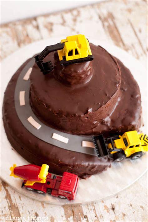 Tarta de Chocolate para Cumpleaños de la Construcción ...
