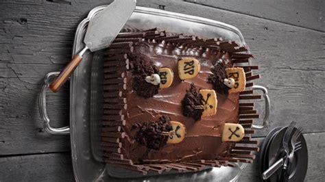 Tarta de chocolate sin gluten para Halloween 2019
