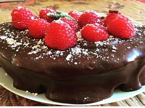 Tarta de chocolate y frambuesas sin gluten   Casa Ruiz
