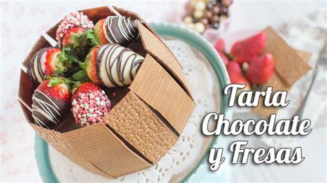 Tarta de chocolate y fresas | Quiero Cupcakes!   YouTube