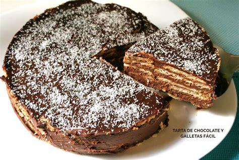 Tarta de chocolate y galletas fácil   Y hoy que comemos ...
