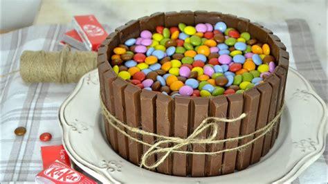 Tarta de chocolate y kit kat ¡Deliciosa y muy fácil de ...