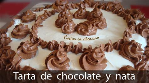 TARTA de CHOCOLATE y NATA   Chocolate & Cream Cake   Tonio ...
