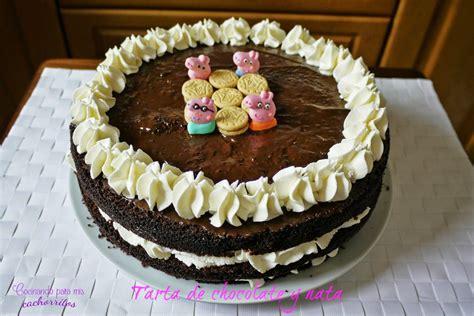 Tarta de chocolate y nata. Espectacular tarta de chocolate ...