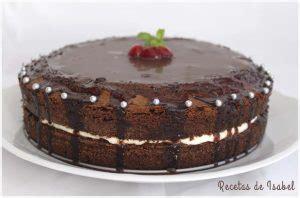 Tarta de chocolate y nata   Recetas de Isabel