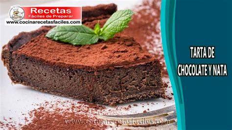 Tarta de chocolate y nata   Tartas, Receta de postres ...