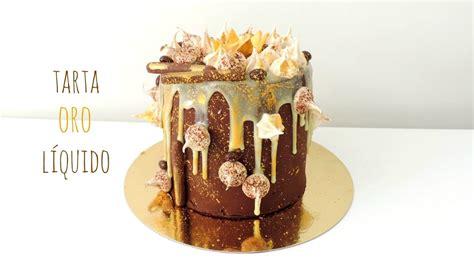 Tarta de chocolate y oro líquido / Chocolate gold loaded ...