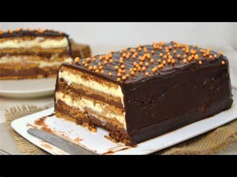 Tarta de dos chocolates con galletas ¡Sin horno!   YouTube