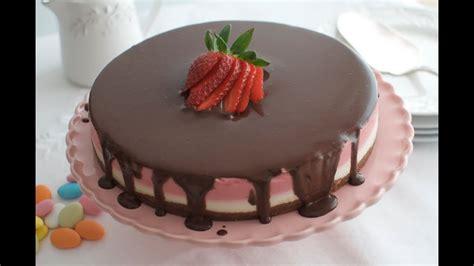 Tarta de fresas con nata y chocolate   YouTube