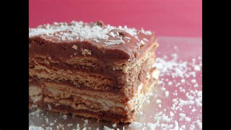 Tarta de galletas con chocolate   Tarta de la abuela ...