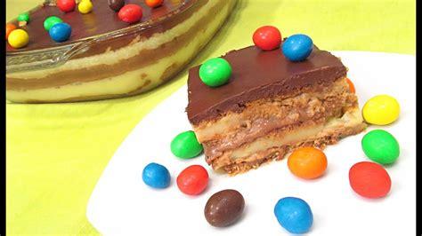 Tarta de Galletas Flan y Chocolate   YouTube