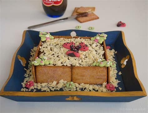 Tarta de Galletas Napolitanas y Nocilla   Cocina