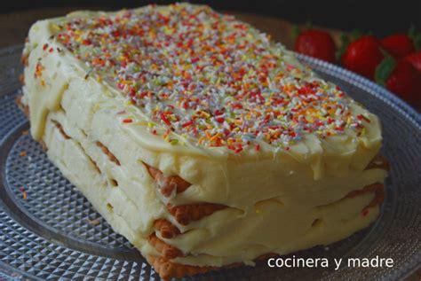 Tarta de galletas y chocolate blanco   Cocinera y Madre