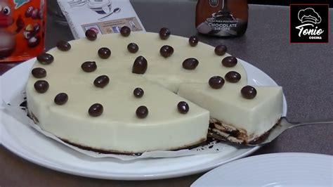 Tarta de galletas y Chocolate Blanco | Receta muy fácil ...