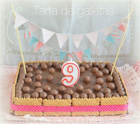 Tarta de galletas y chocolate | CocinaconMarta.com