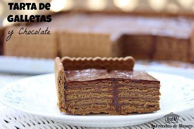 Tarta de galletas y chocolate   Comparterecetas.com