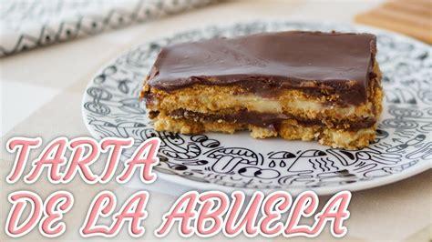 TARTA DE LA ABUELA con NATILLAS, CHOCOLATE y GALLETAS ...