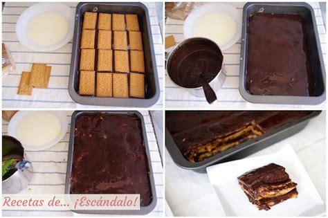 Tarta de la abuela: tarta de chocolate, galletas y ...