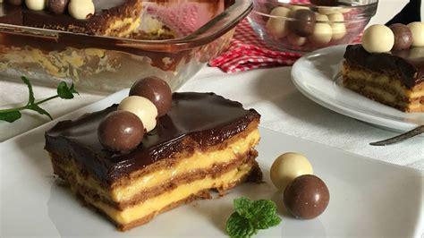 Tarta de la abuela  tarta de galletas con flan    YouTube