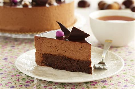 Tarta de mousse de chocolate con base de brownie  4.5/5