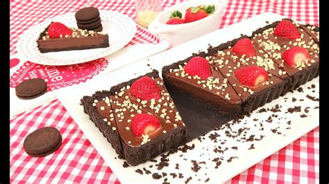 Tarta de Oreo con Fresas y Chocolate sin Horno!   YouTube