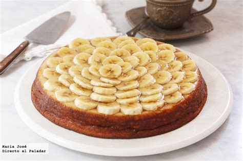 Tarta de plátano y requesón. Receta