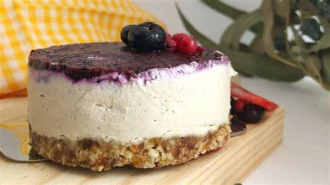Tarta de queso vegana, sin azúcar, sin lactosa y sin gluten