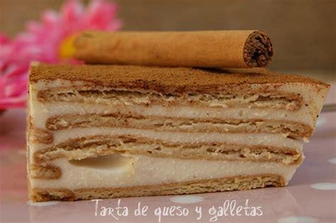 TARTA DE QUESO Y GALLETAS   Atrapada en mi cocina